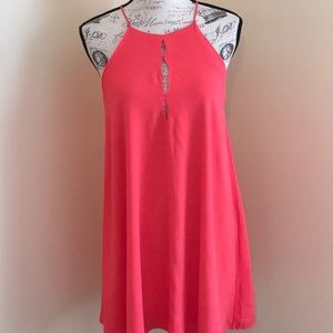 NWT Loveriche Coral Grecian Style Cocktail Dress